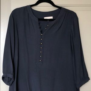 Blouse with Button Neck